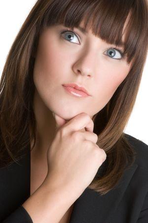 Pretty Businesswoman Thinking photo