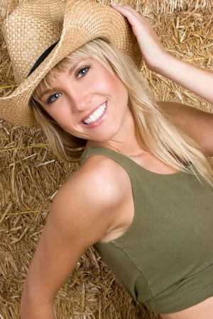 Happy Cowgirl Smiling Stock Photo - 5938551