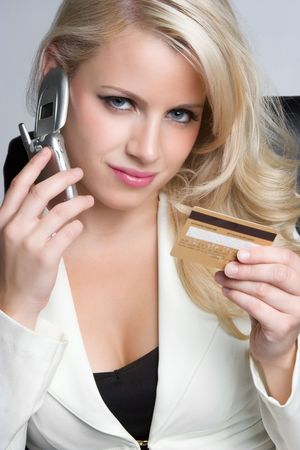 Businesswoman Holding Credit Card Stock Photo - 5931619