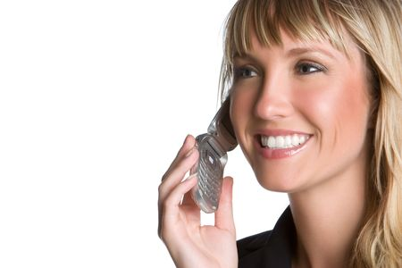 Smiling Businesswoman on Phone Stock Photo - 5997433