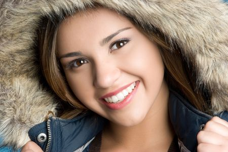 Smiling Winter Teen Stock Photo - 6031795