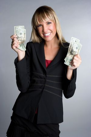 Businesswoman With Money Stock Photo - 6031804