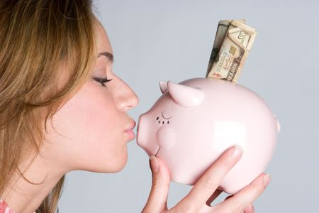 Kissing Piggy Bank Stock Photo - 6031800