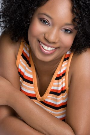 Beautiful Smiling Black Girl Stock Photo - 6059250