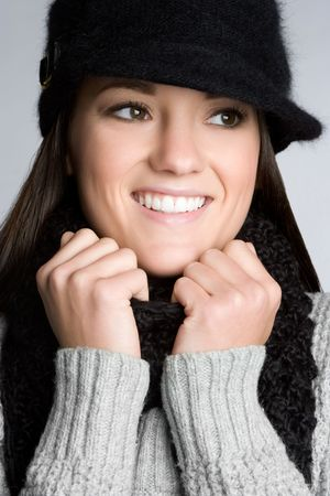 Winter Woman Smiling Stock Photo - 6059260