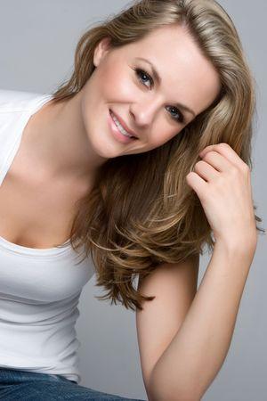 blonde close up: Smiling Girl