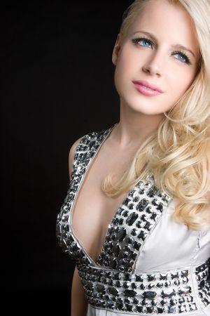 Pretty Blond Girl Stockfoto