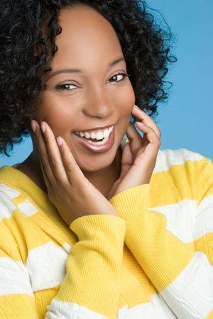 Happy Smiling Black Woman Stock Photo - 6059264