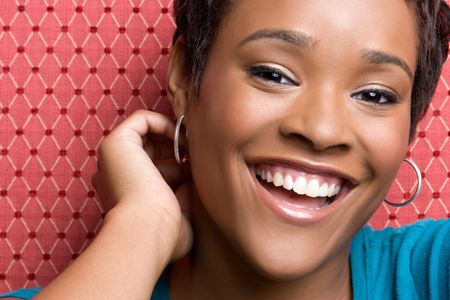 african american ethnicity: Beautiful Laughing Girl
