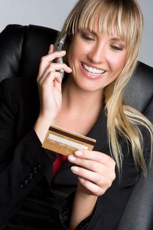 Mujer de negocios de tarjeta de crédito Foto de archivo - 6086205