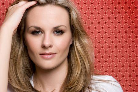 Beautiful Blond Woman Standard-Bild
