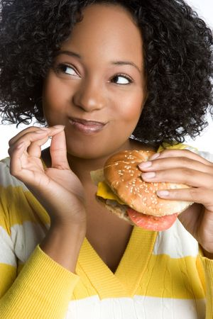 Hamburger Woman Stock Photo - 6095015