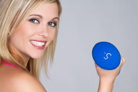 Blond Workout Woman Stock Photo - 6141493