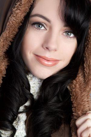 hooded: Winter Fashion Girl