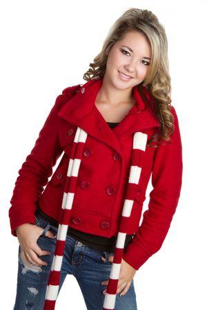 Teen Wearing Scarf Stock Photo - 6162887