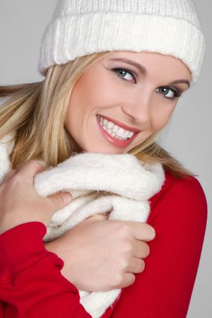 fille hiver: Hiver Girl souriant