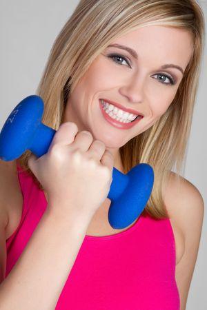 Feliz mujer de entrenamiento Foto de archivo - 6141520