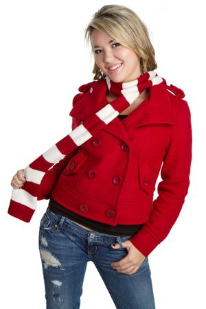 Playful Scarf Girl Stock Photo - 6162892