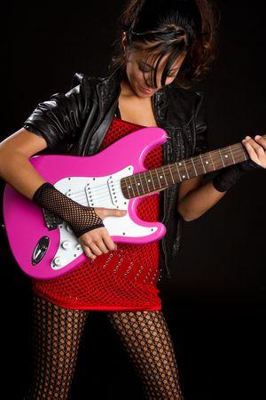 Girl Playing Guitar Stock Photo - 6171409