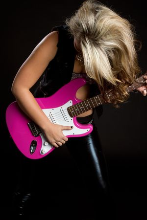 Girl Rocking Out Stock Photo - 6171407