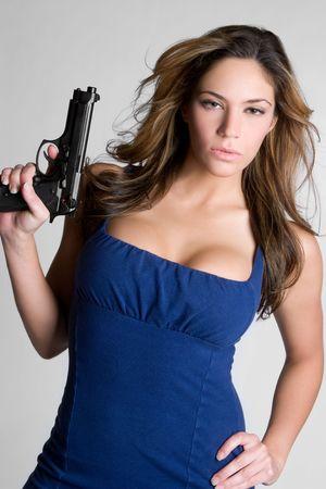 Gun Woman Stock Photo - 6171411