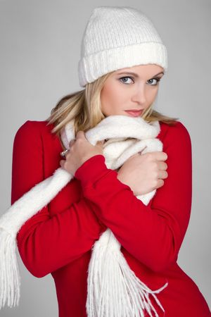 beanies: Fashion Winter Girl LANG_EVOIMAGES