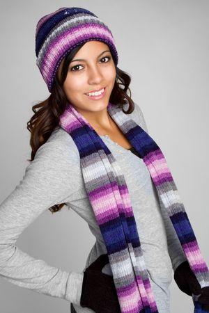 Winter Hispanic Girl Stock Photo - 6185346