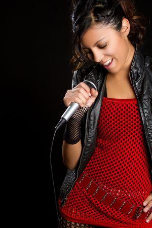 Singing Latina Stock Photo - 6270673