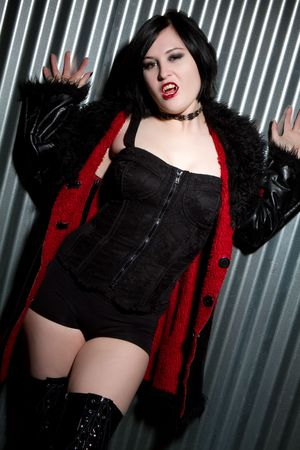 Gothic Vampire Woman Stock Photo - 6270682