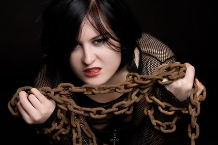 Woman in Chains Stock Photo - 6270684