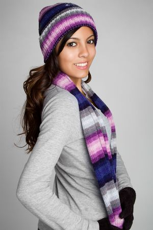 sciarpe: Latino Winter Girl