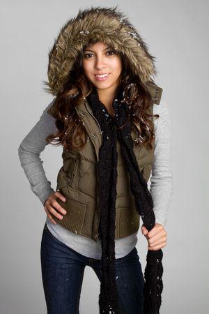 bufandas: Sonriente Girl de bufanda de invierno
