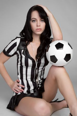 foul: Referee With Soccer Ball