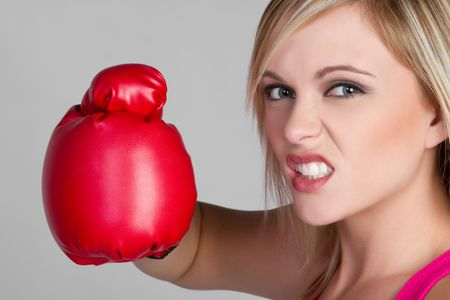 Blond Female Boxer Stock Photo - 6581003