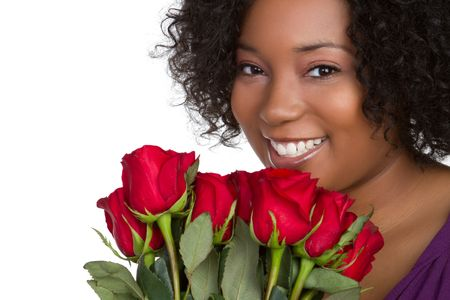 Woman Holding Roses Stock Photo - 6581006