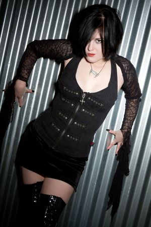 Scary Goth Girl Stock Photo - 6307099