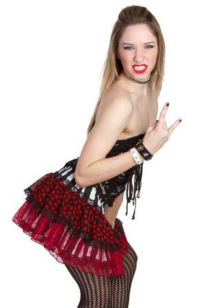 facial gestures: Punk Rock Girl