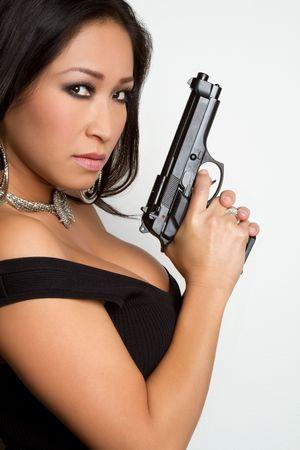Chinese Gun Woman Stock Photo - 6307130