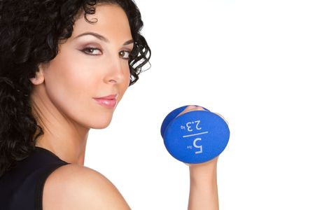 Girl Lifting Weights Stock Photo - 6314032