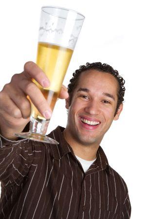 Man With Beer Banco de Imagens
