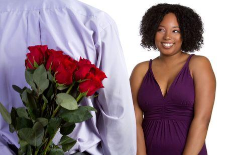 giving back: Man Giving Girl Roses