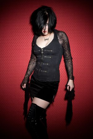 Goth Woman Posing Stock Photo - 6343127