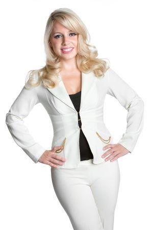 Blond Businesswoman Banco de Imagens