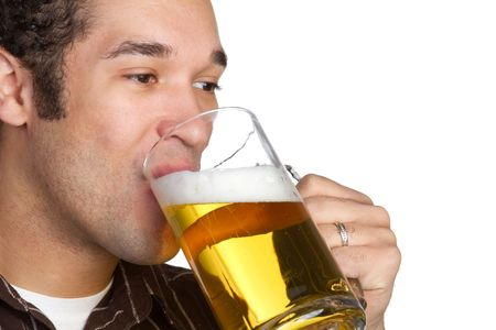 Man Drinking Beer Stock Photo - 6352458