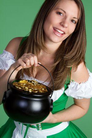 St. Patrick's Day Woman Stockfoto