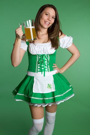 Saint Patricks Day Woman Stock Photo