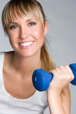 Fitness Girl Smiling  Archivio Fotografico - 6363441