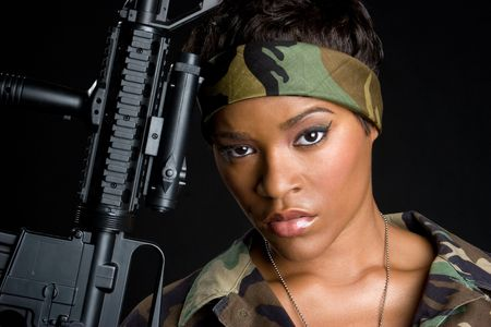 mean: Tough Army Woman