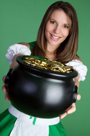 Ierse vrouw met Gold