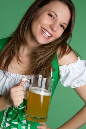 Woman Holding Beer Stock Photo - 6385123